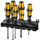 Wera Kraftform 6 Piece Pozi and Slotted Chiseldrive Screwdriver Set